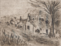 Village (Rembrandt), engraving on cardboard, 2005