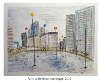 Paris-La Defense, monotype, 2017