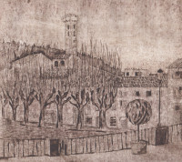 Fiesole, engraving on cardboard, 2011
